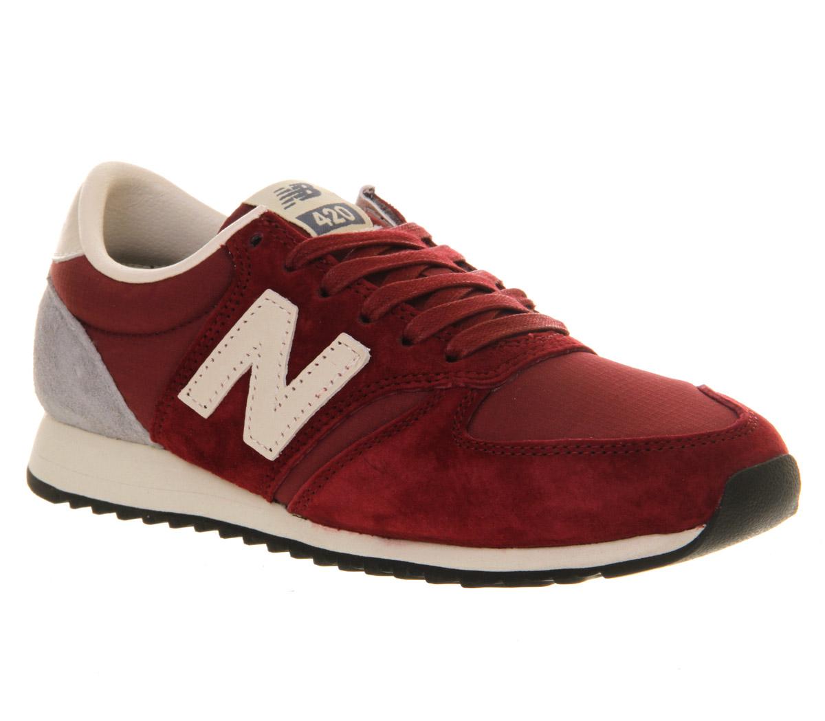Mens New Balance U420 DARK RED Trainers Shoes | eBay