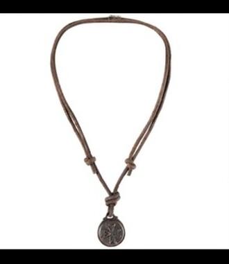 jewels necklace pendant boho tibetan religion buddha buddhist bohemian hippie coin round leather summer vibes