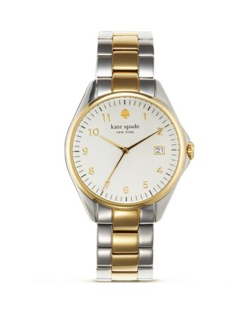 kate spade new york Seaport Grand Two Tone Watch, 28mm | Bloomingdale's