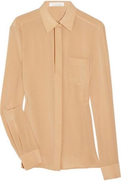 nude brown shirt shirt