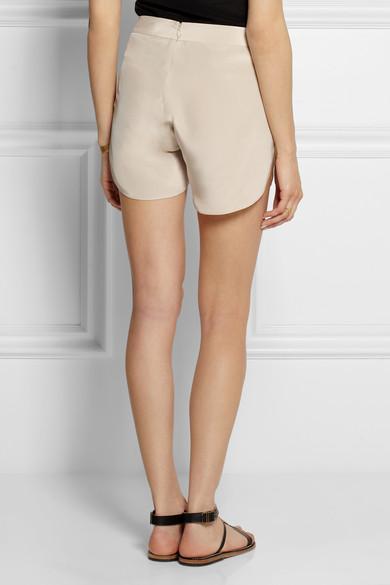 Toteme|Amarante silk shorts|NET-A-PORTER.COM