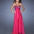 A-line Strapless Sweetheart Empire Sequins Long Chiffon Prom Dress PD11454