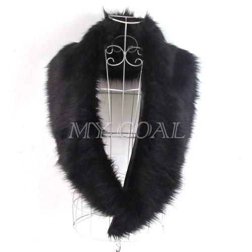 Long Shrug Winter Warm Faux Fur Neck Shawl Scarf Stole Collar Neck Wrap Warmer | eBay