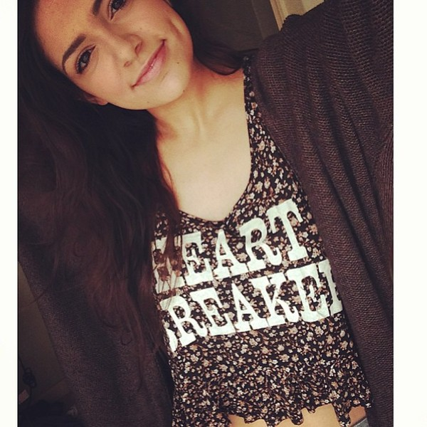 shirt quote on it macbarbie07 bethany mota sweater floral hat