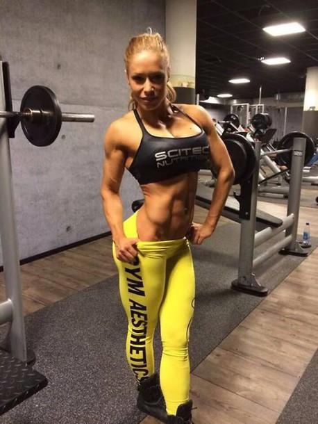 leggings yellow fitness
