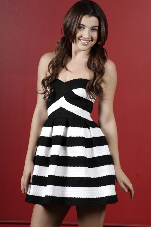 dress dress striped dress black and white dress off the shoulder dress wedding dress