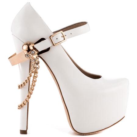 ZiGiny's White Skull Jane - White for 169.99 direct from heels.com
