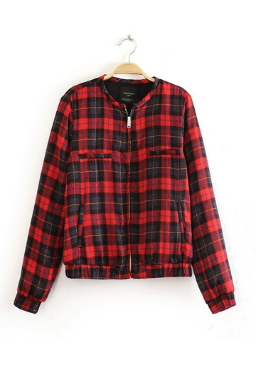British Style Checked Jacket [FEBK0163]- US$39.99 - PersunMall.com