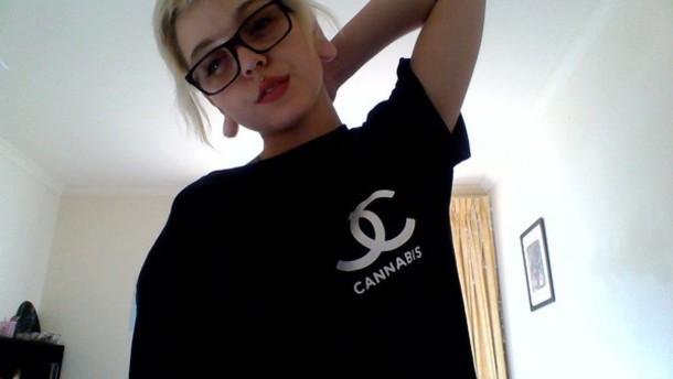 t-shirt weed t-shirt shirt girl