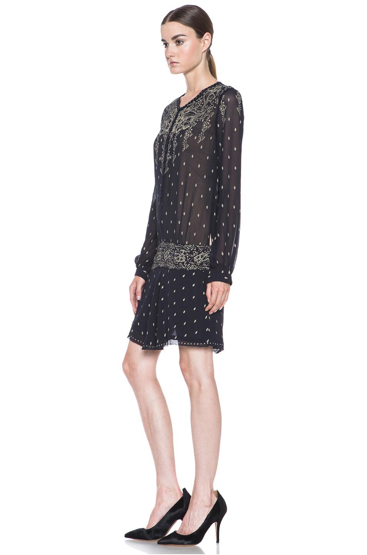 Etoile Isabel Marant|Risha Gipsy Dress in Night Blue