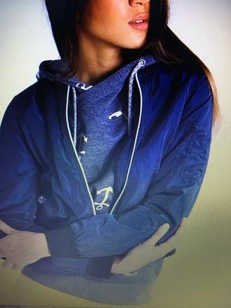 sweater bomber veromoda sweater weather anchor ancre hoodie cross collar grey grey sweater white zalando bomber jacket