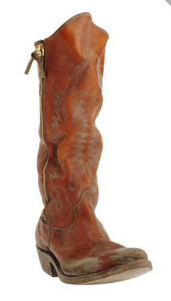 shoes cowboy boots brown leather boots chestnut