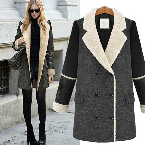 coat lapel long double breasted collar