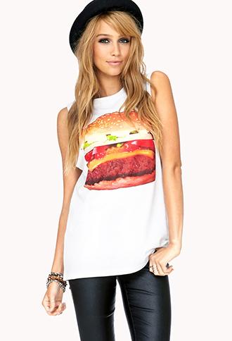 Fun Hamburger Muscle Tee   FOREVER21 - 2039516802