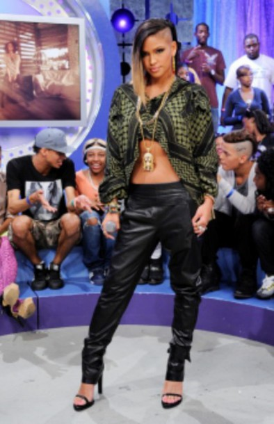 crop tops cropped sweater sexy cassie ventura leather pants swag top