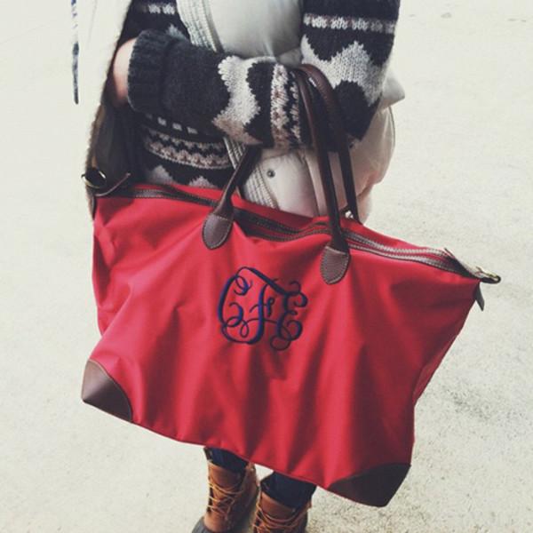 bag tote bag monogram monogrammed handbag jewels