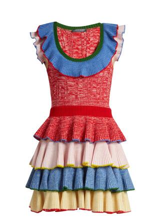 dress mini dress knitted mini dress mini ruffle