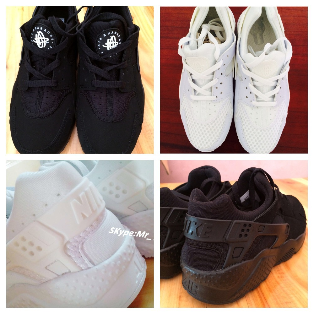 2014 Black White Air Huarache Men Sneakers With Black Logo Send Red Original Box Size UK 10,9,8.5,7.5,7-in Men's Fashion Sneakers from Shoes on Aliexpress.com