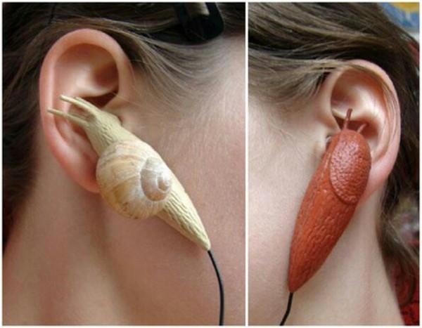 earphones snails snail