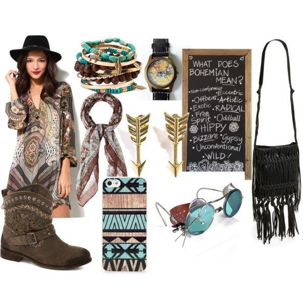 jewels boho chic map watch aztec hippie scarf fringed bag sunglasses