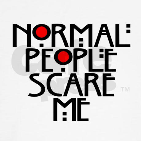 Normal People Scare Me Jumper Hoody by TateLangdon