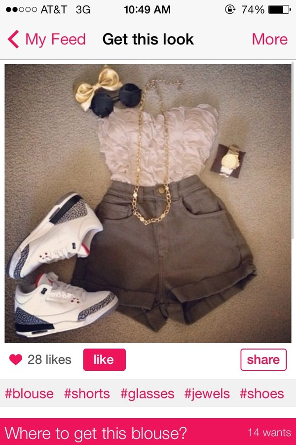 shorts jewels shoes