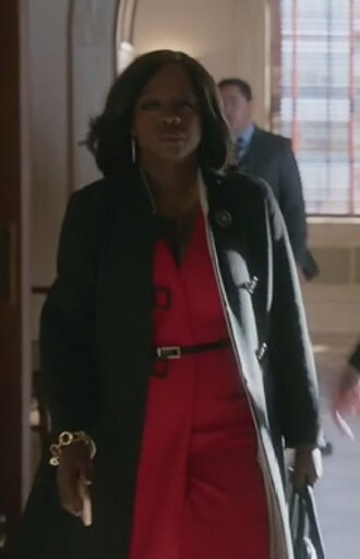 dress viola dav red wrap how to get away with murder annalise keating sleeveless v neck crepe
