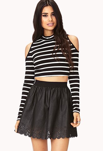 Street-Chic Laser Cut Mini Skirt | FOREVER 21 - 2000128610