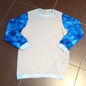 sweater women's mens unisex jumper crewneck fashion tie dye blue terquise warm trendy igers streetwear apparel springtide apparel fashion killer comfy
