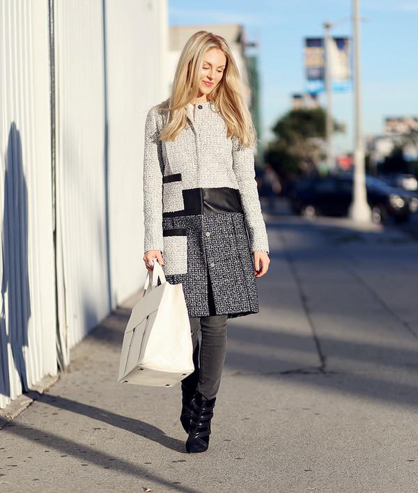 cheyenne meets chanel coat jeans shoes jewels bag
