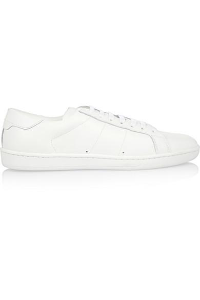 Saint Laurent Leather sneakers NET-A-PORTER.COM