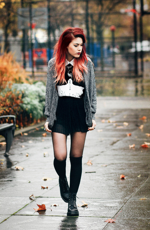 le happy shoes t-shirt skirt coat sweater