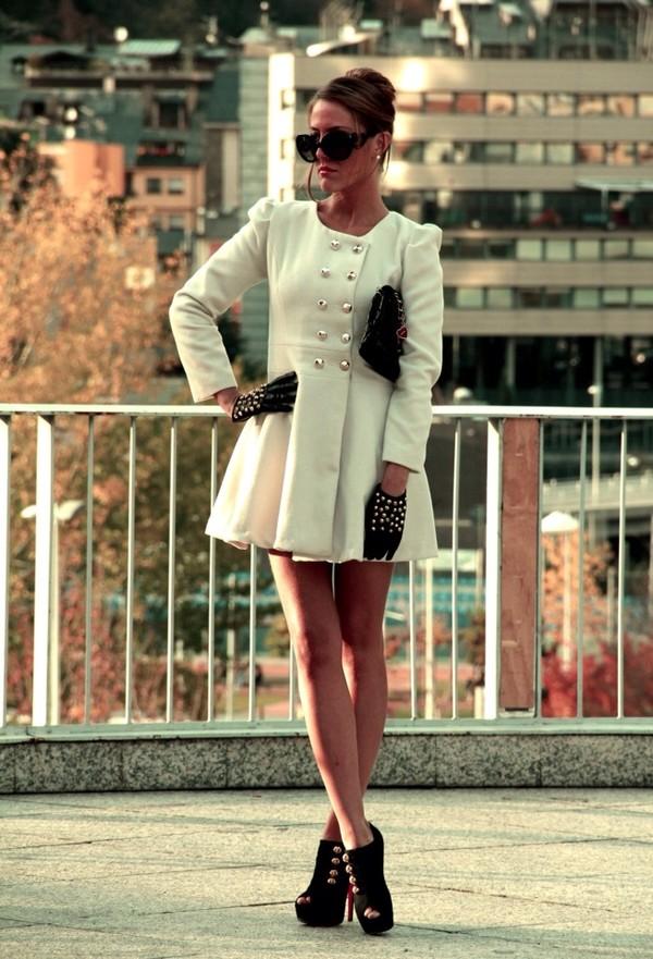 coat white vintage