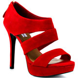 Steve Madden's Red Buzzzer - Red Suede for 129.99 direct from heels.com