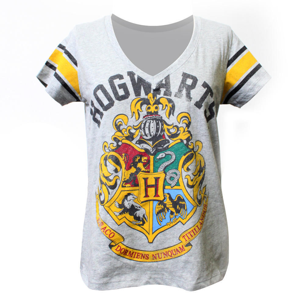 Harry Potter Hogwarts Women's Large NEW V-Neck T-Shirt Witchcraft and Wizardry | eBay