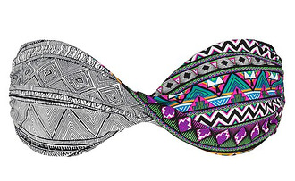 swimwear bikini bandeau bikini colorful summer pattern multicolor colorful patterns underwear