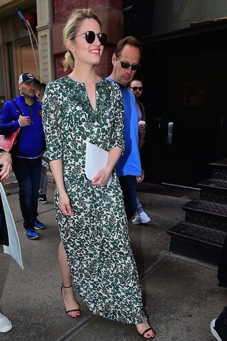 dress maxi dress green dianna agron