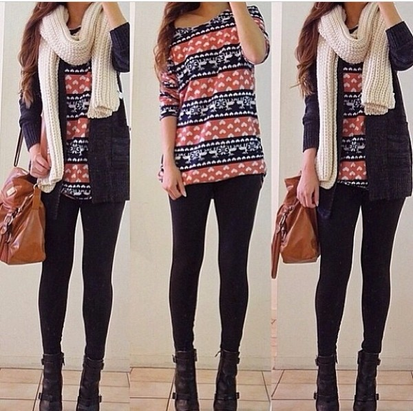bag jeans shoes t-shirt jewels scarf sweater