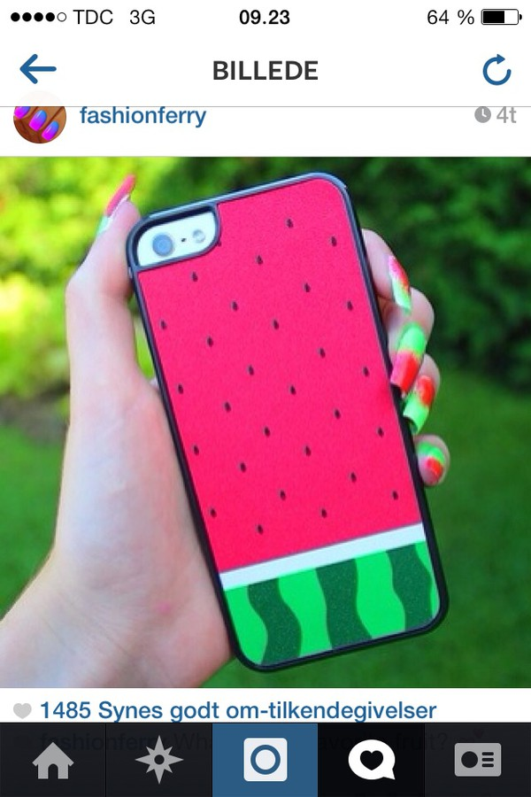 nail polish cover watermelon print melon iphone case iphone cover nail accessories