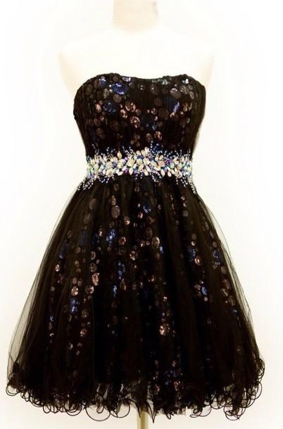 dress black sparkly dress