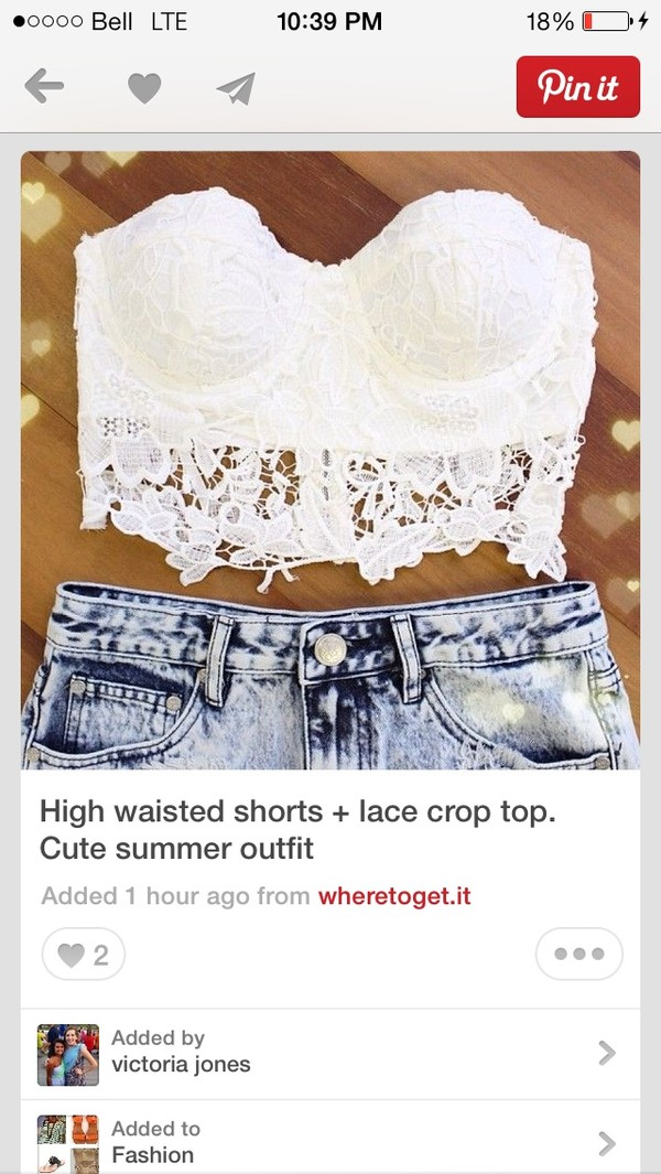 tank top crop tops lace white white crop tops summer summer outfits white lace strapless