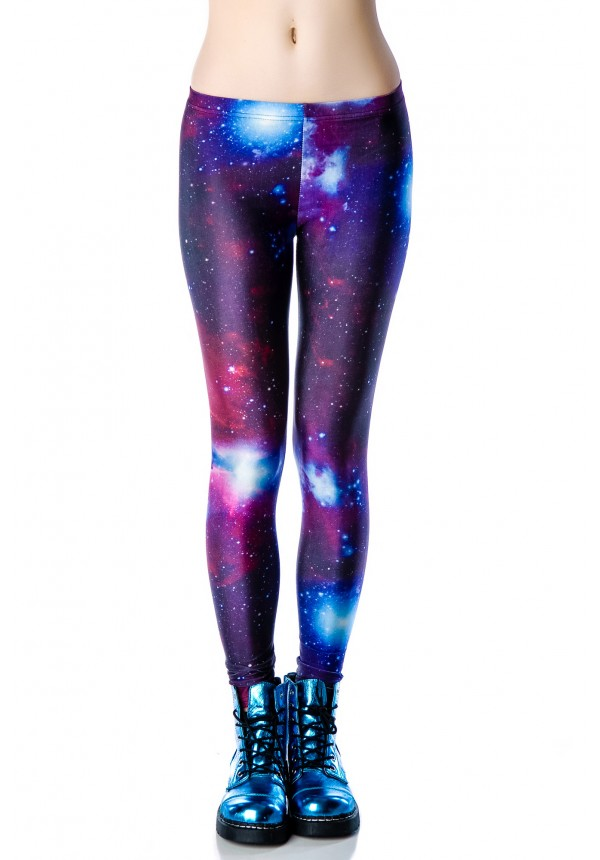 Purple Galaxy Leggings | Dolls Kill