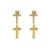 CLEAR CRYSTAL CROSS EARRINGS - Rings & Tings | Online fashion store | Shop the latest trends