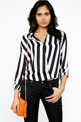 Stripped Blouse- $38