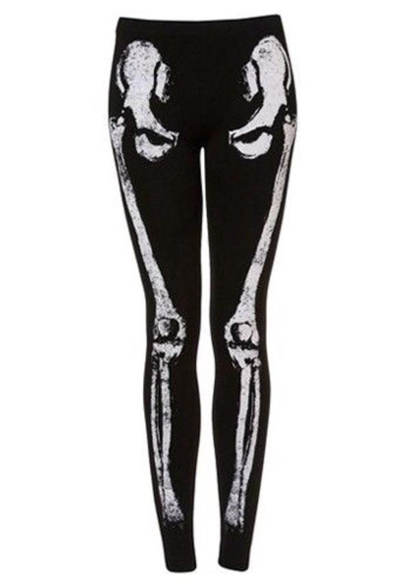 pants leggings skeleton bones