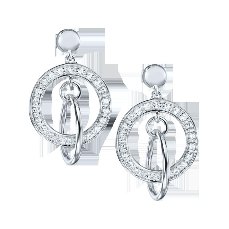 925 Sterling Silver Dahlia Earrings | Carrington and Company