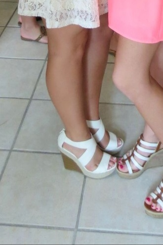 shoes wedges strappy girly low heel