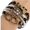 Fashion punk vintage bronze watch shape &handcuffs wrap charms bracelets for men & women diy jewelry free shipping 2pcs p1298-in wrap bracelets from jewelry on aliexpress.com   alibaba group