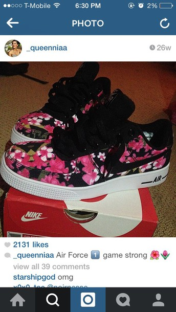 shoes floral shoes nike air