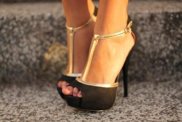 heels black heels black shoes prom heels gold black high heels pumps black and gold shoes